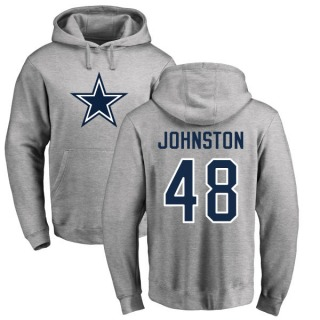 Men's Daryl Johnston Dallas Cowboys Pro Line by Ash Name & Number Logo Pullover Hoodie